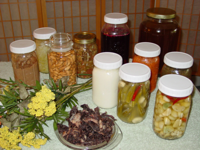 Jars Of Lacto-Fermented Foods